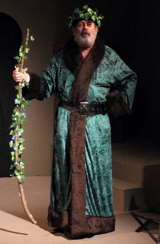Ghost Of Christmas Present Costume.Pateley Bridge Dramatic Society A Christmas Carol Review