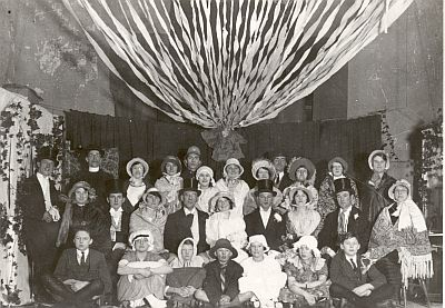 "The cast of ""A Village Wedding"", presented in the Cinema in 1939"